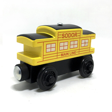w09Thomas and Friends sodor line caboose Wooden Railway Train Anime Toy Thomas Train Model Kids Toys for Children Christmas Gift