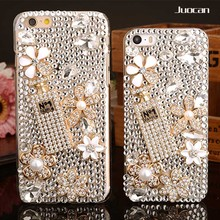 Juocan Fashion Luxury Diamond Cell Phone Case For Iphone 6 6Plus Hand-Make DIY Bling Jewelled Crystal Phone Case For Iphpne 7 7P