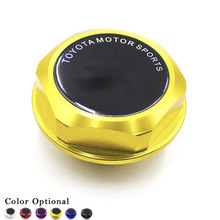 CNSPEED Engine Oil Fuel Filler Tank Cap Cover Tank Covers Aluminum Black For TOYOTA LEXUS SCION 5 Color Offer Oil Cap(China)
