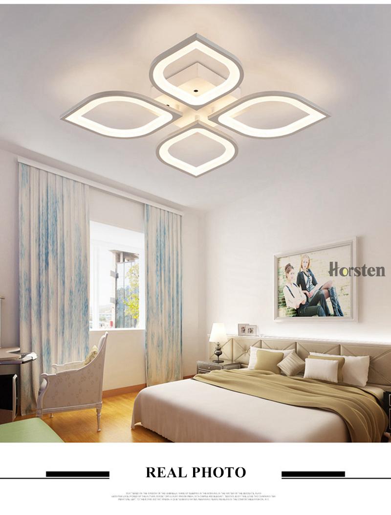 Horsten Remote Control Modern LED Ceiling Lights For Living Room Bedroom Acrylic Ceiling Lamps Flower Design Celing Lamp 90-260V (9)