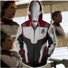 Avengers Endgame 4 Quantum Realm 3D Print Hoodies Men Fitness Pullover Sweatshirts Zipper Jacket Cosplay Costume Streetwear(China)