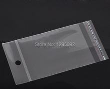 1000Pcs Self Adhesive Seal Clear Plastic Bags Pouches Crafts Display Packing Findings 13.5x7cm Usable Sapce 9x7cm(China)