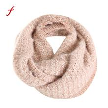 Feitong Brand Warm Scarves Knitted Shawls Scarf For Women Bandana Winter Scarf Knitting Collar Neck Warme Poncho Snud Stole(China)