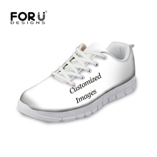 FORUDESIGNS Custom Images or Logo Men's Autumn Summer Flat Shoes Breathable Comfortable Mesh Shoes Man Casual Flats Shoes Men