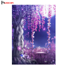 "Huacan,Diamond Painting Cross Stitch""Flower""Diamond Mosaic Full Square Crystal,5D Diamond Embroidery Kits Orchid Home Decor NEW"