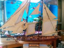 LOVE MODEL scale 1/100 Scale Wooden Sailboat kits Halcon 1840 Model Ship laser cut boat Wooden Ship Model(China)