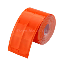 "Orange Reflective Tape PVC Belt Stripe Warning Tape Sew On Clothes Cap Bags 50mm (2"") x 5meters(China)"