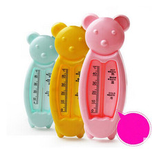 3 Colors Cartoon Floating Lovely Bear Baby Water Thermometer Float Baby Bath Toy Thermometer Tub Water Sensor Thermometer