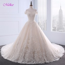 Buy Melice Sweetheart Neck Robe De Mariage Appliques A-Line Wedding Dresses 2017 Luxury Beaded Chapel Train Bridal Dress Plus Size for $260.99 in AliExpress store