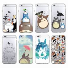 Cute Totoro Spirited Away Ghibli Miyazaki Anime Soft Clear Phone Case For iPhone 7 7Plus 6 6S 6Plus 5 5S 8 8Plus SAMSUNG(China)