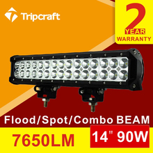 Tripcraft offer Offroad ramp lamp, 2PCS 90w 2 row led ligth bar with CE
