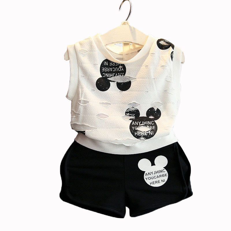 2017 Summer Girls Clothing Sport Suit  Minnie Printed Toddler children Set  T-Shirt+Pant Princess Dress For Party And Wedding<br><br>Aliexpress