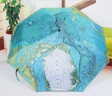 33pcs World Map Umbrella Anti-UV Water repellent