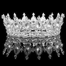 2016 fashion royal crown crystal rhinestone tiara head jewelry band  princess bridal wedding mariage hair accessories