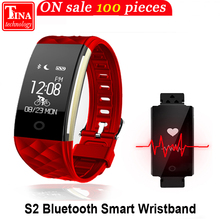 2017 New S2 Bluetooth Smart Band Waterproof Touch Screen Wristband Heart Rate Monitor Smartband Bracelet For Android IOS Phone