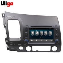 Quad Core Android 6.0 Car Head Unit for Honda Civic 2006-2011 DVD GPS with Radio RDS BT Mirror-Link Wifi Free 8GB map card