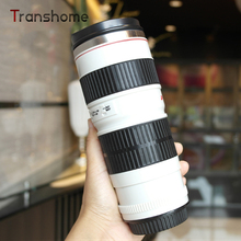 Transhome Hot Creative Generation Lens Bottle Caniam White Black Canon Camera Sports Travel Bottle Coffee Bottle Hot Water