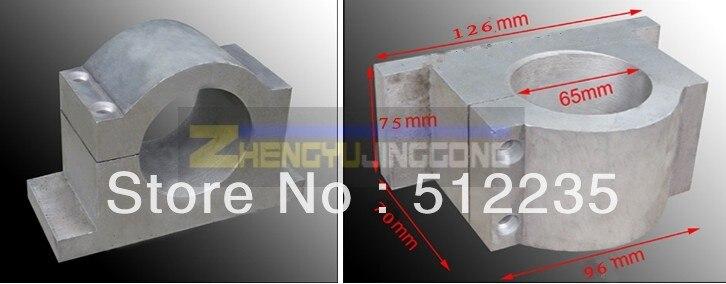 65mm clapms cnc spindle mounts  spindle bracket CNC machine fittings cast aluminum 65mm spindle fixture<br>
