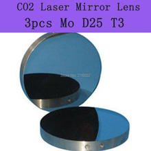 Freeshipping High Quality Mo Mirror 3pcs/lot Co2 laser mirror diameter 25mm , thickness 3mm