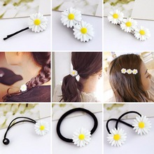 Fashion Girl Fresh daisy flower hairpin headwear barrettes Hair clips Jewelry Snap Clips Accessories