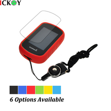 Protect Red Case + Black Detachable Ring Neck Strap +Screen Protector for Hiking Handheld GPS Garmin eTrex Touch 25 35 35T