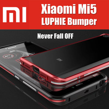hybrid M5 Prime for xiaomi mi5 bumper QMK0224CN original LUPHIE amazing highly oxidation aluminum metal button metal frame