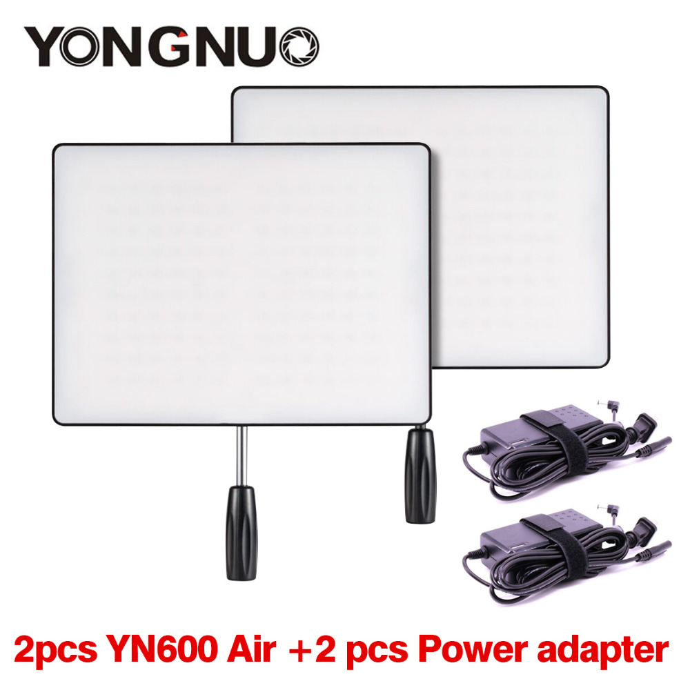 YONGNUO YN600 Air LED Camera Video Light Set 3200K-5500K with Power Adapter for Canon Nikon Pentax Olympas DSLR Camcorder<br><br>Aliexpress