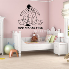 Cute Eeyore Wall Art Custom Kids Name Vinyl Decal Wall Sticker decor sticker Nursery Kids Room Decor Home Decoration # T425