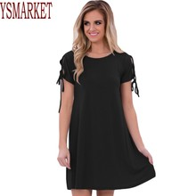YSMARKET 2017 Summer Women Sexy Mini Dresses Night and Day Lace up Short Sleeves Ladies Casual Dress Vestido de Verano A22990