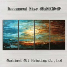 Professional Artist Handmade Abstract Sky Modern Abstract Sunset Oil Painting On Canvas Handmade Abstract Landscape Picture