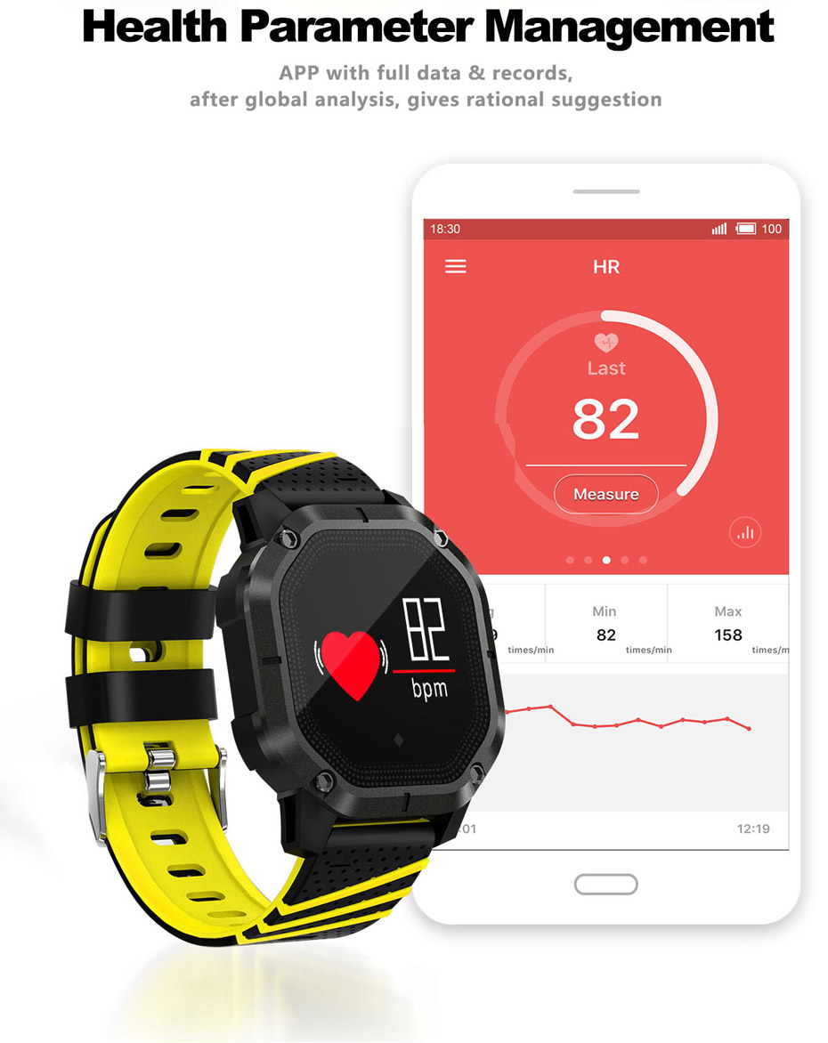 COLMI K5 Smart watch IP68 Waterproof Multiple Sports Modes Cycling Swimming Heart Rate Monitor Blood oxygen Blood pressure Clock 9