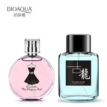 2Pcs/Lot BIOAQUA 30Ml Female Perfumes Natural Plants Extracts +50ML Portable Men Perfume In Bottle Long Lasting Fresh Flirting
