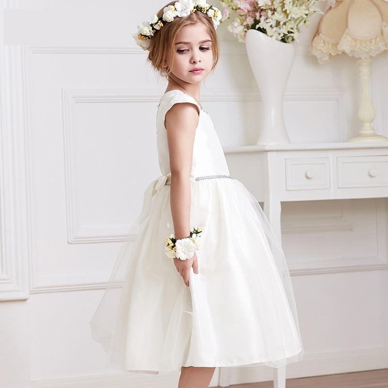 Children Princess Dress 2017 Spring Summer Pure White Girls Dress Fashion Cute Ball Gown Dress Kids Cute Casual Skirt Clothing<br><br>Aliexpress