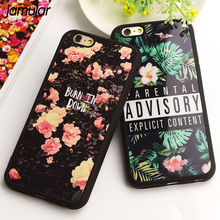 JAMULAR Fashion Mirror Case For iphone X 7 Plus 6 6s Plus Flower Soft Silicone Funda Cover For iPhone 8 6s 7 Plus SE 5s Fundas(China)