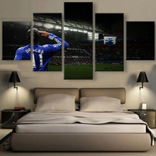 5 Panels Printed canvas DROGBA THE LEGEND  prints SPORTS canvas poster home decor wall frame artwork
