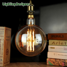 big size edison led bulb E27 light amber retro saving lamp vintage filament bulb Edison ampul lamp led light chandelier 220V6W