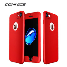 CONNICS Fashion Men Women Cell Phone Case For iPhone 6 6S 7 / Plus Soft Silica Gel Slight Matte I6 I7 Plus Rubber TPU Back Cover