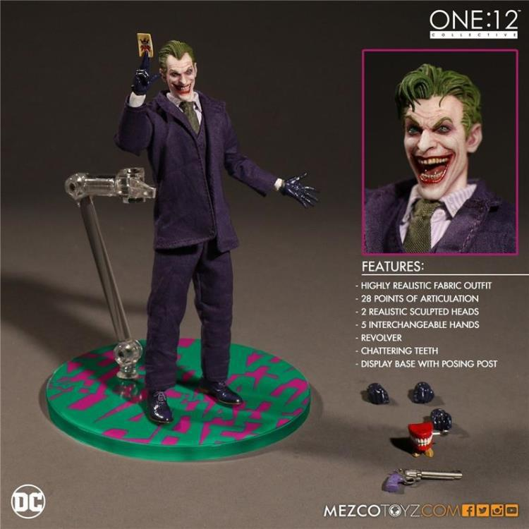 The Joker Action Figures 1:12 With Real Clothing MEZCO Movable Model Toy<br>
