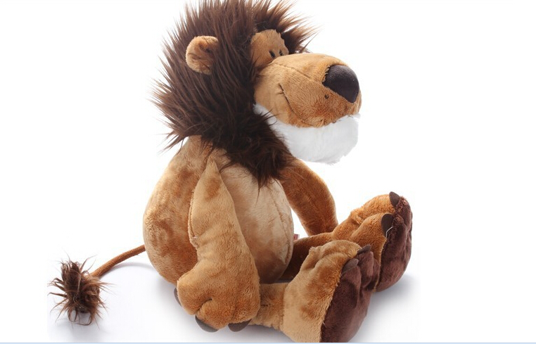 LION Plush stuffed animal toy 25cm adorable soft plush doll 1pc free ship(China)