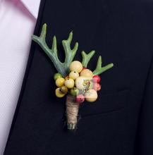 Free shipping groom wedding corsages and boutonnieres flower fruit garden party graduation corsages prom