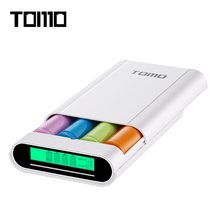 TOMO M4 Power Bank 4 X 18650 Li-Ion Battery Charger DIY Mobile Intelligent PowerBank Dual Output With LCD Display Screen(China)