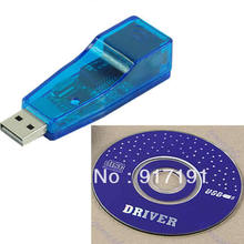 HOT Ethernet External USB to Lan RJ45 Network Card Adapter 10/100 Mbps For Laptop PC(China)