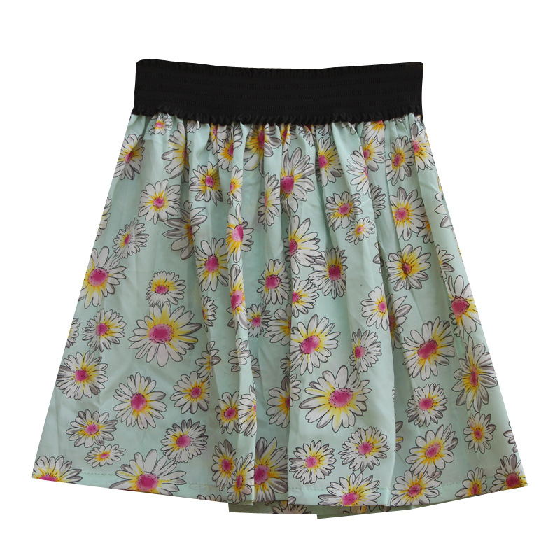 Fashion 1 Pc 12Styles Sexy Women Girl Summer Comfortable Cute Lovly Mini Chiffon Print Pleated High Waist Skirts Short Skirt