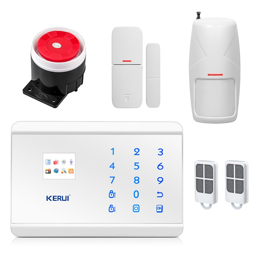 KERUI 433Mhz Wireless Autodial Home Office Intruder Call LCD Smart Display+Pet Friendly pir sensor Home Burglar Security<br><br>Aliexpress