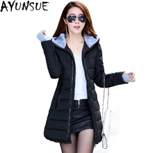 AYUNSUE 2017 Wadded Jacket Female New Women's Winter Jacket Down Cotton Jacket Slim Parkas Ladies Coat Plus Size S-XL TP0514(China)