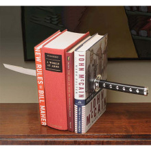 Katana Bookends Bookshelf Office Stationery With Hidden Bracket Perfect for Comic Book/Action Movie Fans