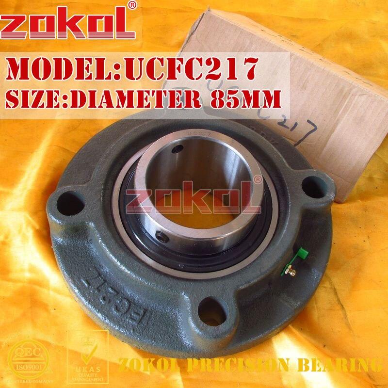 ZOKOL bearing Flange Cartridge Bearing Units UCFC217 TY90517Y Pillow Block Ball Bearing diameter 85mm<br>