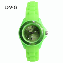 DWG Brand New Sports Silicone Children Watch Rhinestone Crystal Child Silicone Colors Watches Girl Boy Women Fashion Clock(China)
