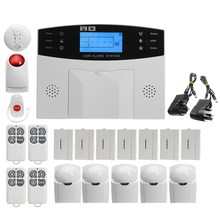 NEW Safurance Wireless LCD GSM SMS Autodial Alarm Security Home House Burglar Intruder System Home Safety Alarm Mainframe Kits(China)