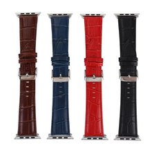 Luxury Crocodile Pattern Leather Wrist Watch Band Strap Belt for iwatch Apple Watch 38/42mm Black Red Brown Blue I155.